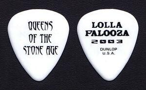 Queens of the Stone Age Lollapalooza White Guitar Pick - 2003 Tour QOTSA