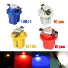 10× T5 B8.5D Car Gauge LED Dash Instrument Cluster Gauge Light Bulbs Accessories