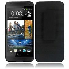 For AT&T HTC ONE MINI COMBO Belt Clip Holster Case Phone Cover Kick Stand Black