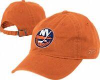 New York Islanders NHL  Reebok Basic Logo Orange Slouch Hat Cap Adult Adjustable