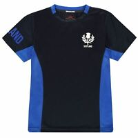 Scotland Rugby Polyester T-Shirt Juniors Blue Fan Top Tee Shirt