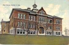 Tyndall South Dakota High School Exterior Street View Antique Postcard K13362