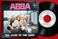 "ABBA THE NAME OF THE GAME/I WONDER 1977 WHITE LABEL RARE EXYUGO 7""PS N/MINT"