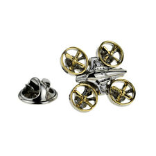 Two Tone Silver & Gold Drone Lapel Pin Badge X2AJTP899
