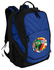 Soccer Flag Ball Backpack Laptop Bags Computer Backpacks