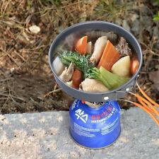9x Backpacking Camping Cookware Set Stainless Steel Outdoor Pot Frying Pan Mug