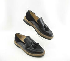 Clarks Zante Spring Women's Black Leather Tassel Loafer Size 9.5 M