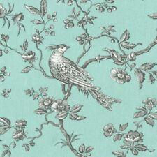 Textiles français The Regal Birds fabric - Duck Egg Blue | 280 cm wide per 50 cm