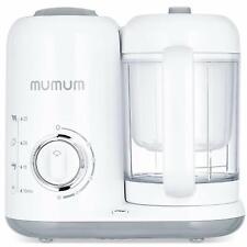 Mumum Baby 4-in-1 Baby Food Maker, Defrost, Heat, Steam, Cook & Blender