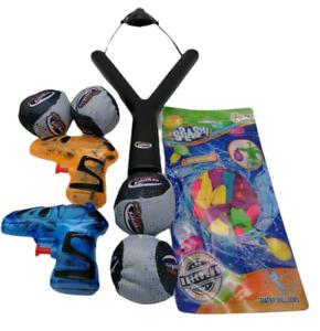 Wasserbomben Schleuder Wasserpistole Wasserspielzeug Nerf Kinderset 8 Teilig Set