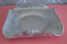 Vintage Federal Florette Design Aluminum Rolled Ruffled Edges Serving Tray