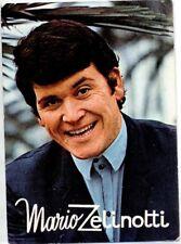 MARIO ZELINOTTI Cartolina d'epoca 1960s Photo Music Cantante 2