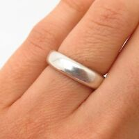 925 Sterling Silver Vintage Classic Wedding Band Ring Size 5