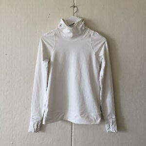 Lululemon Women's White Hoodie Top Size 4 Long Sleeves