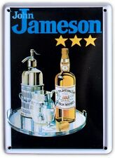 JAMESON IRISH WHISKEY TRAY Small Metal Tin Pub Sign