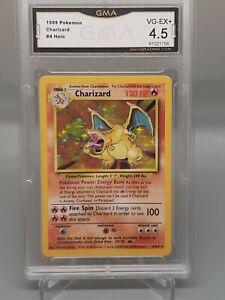 1999 Base Set Unlimited Charizard Holo Pokemon Card 4/102 VG EX 4.5