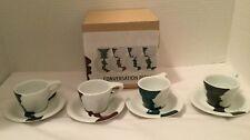notNeutral Lino Expresso Vase Face Conversation Piece Set 4 Cups Saucers