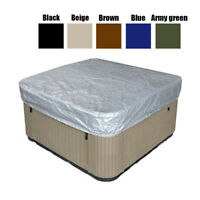 5 Sizes Hot Tub Spa Cover Cap Waterproof Dust Protector Oxford Fabric Silver