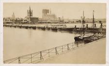 Allemagne, Cologne, pont sur le Rhin Vintage albumen print Tirage albumi