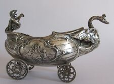 GERMAN SOLID SILVER CENTREPIECE BOWL SWEET MEAT DISH PROBABLY HANAU