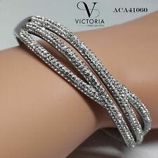 Victoria Señoras Brazalete Increíble Serpiente curvas Simulado Diamante Regalo De Navidad