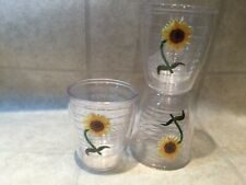 Tervis Tumbler  12 oz Insulated Plastic Tumblers Set of 3 Sunflower