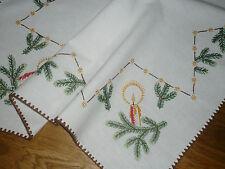 Alte Weihnachtsdecke Mitteldecke  72 cm / 73 cm Handarbeit  Shabby Chic Vintage