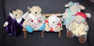 Nice Lot! MUFFY VANDERBEAR Teddy Bears lot r