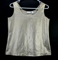 S M L ZARA Metallic Shiny Ribbed Top Scoop Neck New W//Tags 2 Colors Tank Sizes