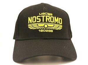 New USCSS Nostromo Baseball Hat Dad Black Cap Alien Weyland Yutani Crew Movie