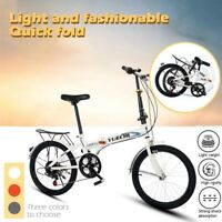 20in Leisure 7 Speed ​​City Folding Mini Compact Bike Bicycle Urban Commuters