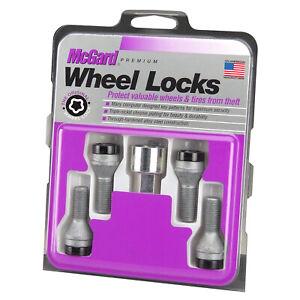 McGard 27305 4 Lug Bolt Lock Set Black M14 x 1.5 Pitch 54.9mm Length w/ Key