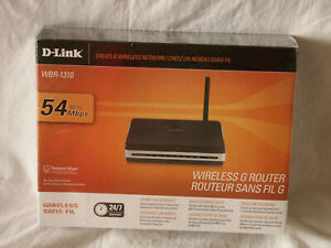 D-Link Wireless G Router WBR-1310 54 Mbps New Sealed