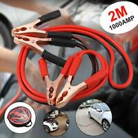 2M HEAVY DUTY BATTERY JUMP START LEADS CABLE 1000AMP JUMPLEADS CAR VAN BOOST