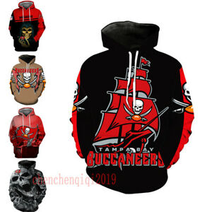 Tampa Bay Buccaneers Hoodie Pullover Football Hooded Sweatshirt Fans Jacket Coat