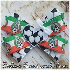 """EL TRI Soccer...Vamos al mundial 2018 5"""" hair bow...la seleccion Mexicana"""
