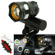 LED MTB Rear Front Set 15000LM Bicycle Lights USB Bike Headlight Rechargeable