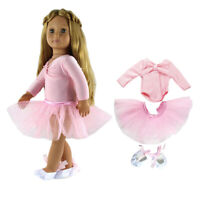 Adorable Dancing Skirt Leggings Clothes for AG American Doll My Life Dolls #B