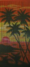 Bamboo Beaded Door Curtain - Island Sunset (also Room Divider or Wall Art)