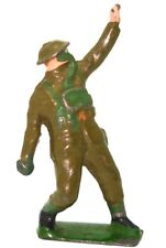 BRITAINS PRE-WAR SET 1627 USA SOLDIERS IN ACTION - 1939 - GRENADE FIGURE MINT