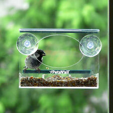 PetsN'all ✪ Chickadee, Finch, Small Bird Window Bird Feeder Squirrel-Proof
