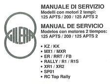 CD MANUALE OFFICINA GILERA KZ-KK-MX1-MXR-ER-RRT-FB-RALLY-R1-R1S-XR1-XR2-SP01-RC