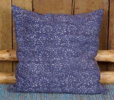 Kissen incl. Inlett 60 x 60 cm gewebt bedruckt Blau floral auch als Bodenkissen