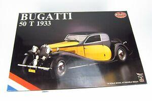 Bugatti 50 T 1933 Pocher 1/8 Scale Rivarossi Model Kit  K 76 Black and Yellow