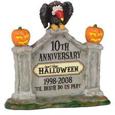 Dept 56 Snow Village Halloween 10th Anniversary Sign