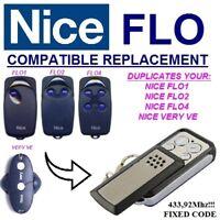 NICE FLO1 / Nice FLO2 / Nice FLO4 / VERY VE compatible télécommande / Cloner