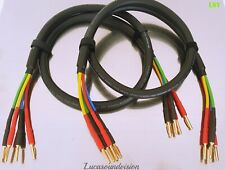 Van Damme Black Series Bi-Wire Speaker Cable 4x 4mm 2x 3m (Pair) Terminated
