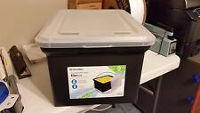 OfficeMax Recycled Letter/Legal Black File Box w/ 60 Pendaflex Legal Folders