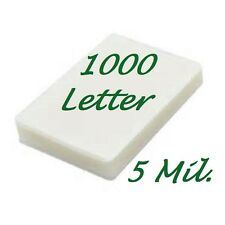 Ultra Clear Letter Thermal Laminating Laminator Pouches 1000 9 x 11.50  5 Mil