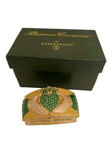 Department 56 Jeweled Trinket Hinged Box - Bejeweled Love Loyalty Friendship Box